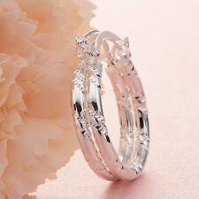 Women Fashion 925 Solid Silver Ear Stud Hoop Dangle Earrings WeddingJewelry