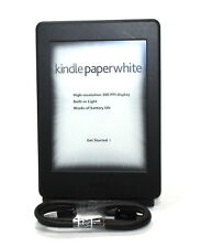 "Kindle Paperwhite E-reader - Black, 6"" High-Resolution Display(300ppi)W/SO -GOOD"