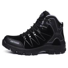 Mens Winter Warm Fur Lined Snow Boots Hiking Trail Waterproof Walking Shoes Size