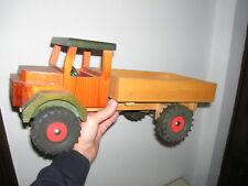 """Alter Holzlaster """"Kipper"""" Haubenlaster 45cm - ca. 70er Jahre"""