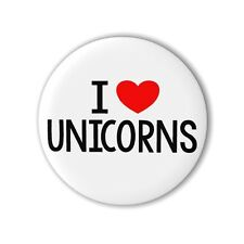 Unicorn 25mm 1 Inch Button Badge Pin I Love Pin Magical Horse Loot Party Bag