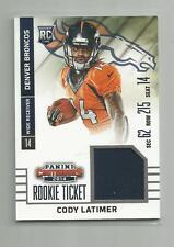 2014 Contenders  CODY LATIMER  Rookie Ticket Swatches