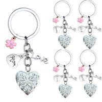 Keychain Love Heart Locket Gift Mom Dad Daughter Son Keyring Christmas Gift Xmas