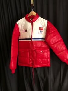 Vintage Swingster Puffy Olympic Coca Cola Coat Med Mint 80s