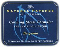 NEW Natural Patches Of Vermont Bergamot Stress Comfort Essential Oil Body Patch