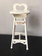 1997 Eatin' Fun Shelly Barbie High Chair Kelly Heart Cherry's Baby Furniture