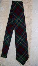 Windsor Shirt Company Burgundy & Green Plaid Tartan Wool Neck Tie MacLean Duart