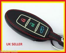 NISSAN NAVARA NOTE X-TRAIL CUBE REMOTE SMART KEY LEATHER COVER CASE 3 BUTTON
