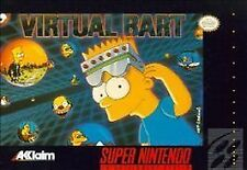 Virtual Bart (Super Nintendo, 1994) SNES GAME ONLY NICE SHAPE NES HQ