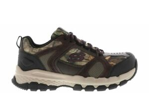 Skechers Safety Work Queznell Hulen Camo STEEL TOE Sneaker Shoes Mens Sz 9.5