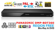 Panasonic DMP-BDT360 Region Free Blu Ray Player Code Free DVD WIFI, USB, 3D, 4K