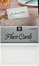Place Cards Wedding x 50 Name Blank Border Folded Table Cardboard Placecards