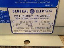 NEW GE 3 KVAR 480V 3 PHASE POWER FACTOR CORRECTION CAPACITOR - NEW IN BOX