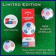 Callaway Chrome Soft TRUVIS Golf Balls - USA Stars & Stripes 2020 - NEW Sleeve