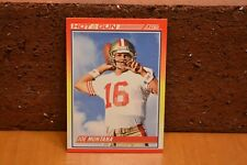 1990 SCORE FOOTBALL SAN FRANCISCO 49ERS JOE MONTANA CARD HOT GUN