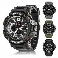 SMAEL Men's Military Quartz Two Time Digital Analog Sport Wrist Watch Waterproof