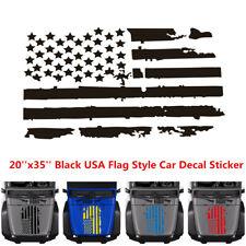 Black US American Flag Style Vinyl Car Decal Sticker Hood Window Graphics Decals