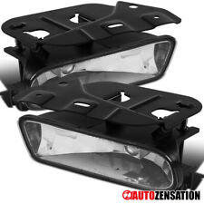 02-06 Cadillac Escalade Clear Replacement Fog Lights Bumper Lamps Pair+Bulbs