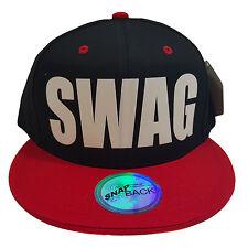 SWAG Flock Black/Red Cotton Snapback Hat Cat