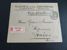 Nederland 70 op aangetekende brief Levie & Co Amsterdam - Geneve 1918