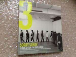 Rare Official Super Junior Vol.3 3rd Album Sorry Sorry Album Version A