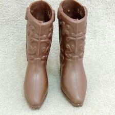 Barbie Ken 1960s Shoes Vintage Soft Western Brown Boots Mattel