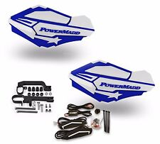 Powermadd Sentinel LED Handguards Guards White Blue Mount Ski Doo Snowmobile