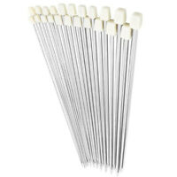 5X(35cm Stainless Steel Single Pointed Knitting Needles Crochet Hook Tool  4R2)