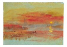 Art Postcard, The Scarlet Sunset : A Town on a River (1830-40) by JMW Turner CO7