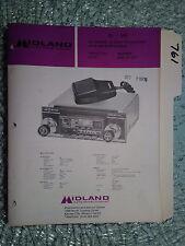 Midland 63-240 service manual original repair book cb radio am/fm mpx in dash