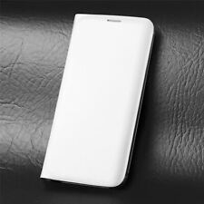 Leather Flip Case Wallet Cover For Samsung Galaxy S6 in White