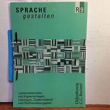 Sprache gestalten / Lehrermaterialien 9 mit Kopiervorlagen