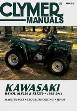 Clymer Atv Workshop Service Repair Manual Kawasaki Bayou Klf 220 Klf 250 88-10
