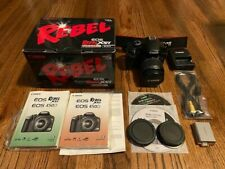 Canon EOS Rebel XSi 450D 12.2MP DSLR Camera Black Body + 18-55mm Lens In Box