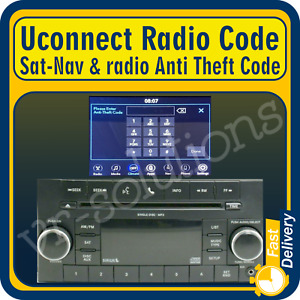 Chrysler Dodge RAM Jeep radio code for T00AM T16QN T19QN T22QN T25QN T82QN T30QN