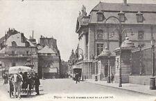 DIJON place d'armes & rue de la liberté attelage écrite 1910