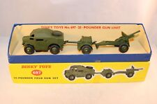 Dinky Toys 697 25 - pounder Gun Unit very near mint in box a super combination