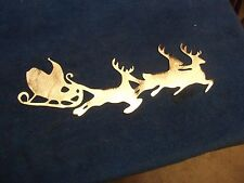 Plasma cut  Christmas Santa Sleigh metal sculpture/ Wall Decor
