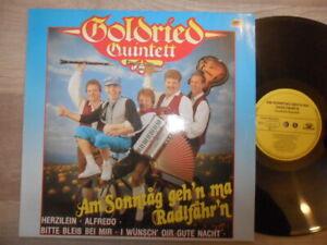 Goldried Quintett / Am Sonntag geh'n ma Radlfahr'n MCP Records Vinyl /LP