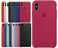 Original iPhone X Cover Genuine Silicone Soft For IPHONE 7 PLUS CASE iPhone 8 +