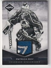 11/12 PANINI LIMITED PATRICK ROY GAME USED JERSEY PRIME PATCH /25 3CL