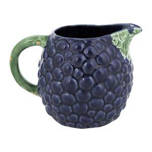 Bordallo Pinheiro Grape Pitcher Jug - Portuguese Pottery - Brand New