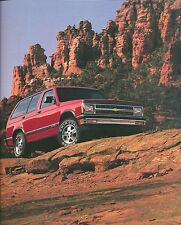 1992 Chevrolet S-10 BLAZER Truck Brochure: S10,TAHOE,LT,SPORT, 4WD, '92