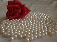 100 Perlen creme perlmutt champagner 10mm  Hochzeit Taufe Tischdeko Wachsperlen