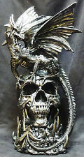 "DRACO   Dragon on Skull   Statue   H17"" x L9.5'' x W9.5''"