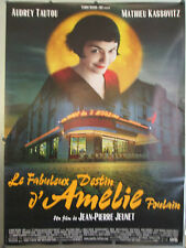 """AMELIE ORIGINAL 47"""" X 63"""" ROLLED FRENCH MOVIE POSTER AUDREY TAUTOU STYLE B"""