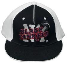 c03ad055143 New! New York Black Yankees Fitted Flatbill 3D Embroidered Cap -NLB -Black