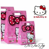 6X HELLO KITTY PINK PARTY LOOT LOLLY BAG BOX. Party Supplies Bunting Banner Flag