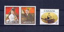 Canada FRANCOBOLLI sg983/984 & sg985 famoso CANADESI 1980...... Nuovo di zecca
