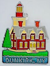 """""""Dunkirk Lighthouse"""" ~ Suncatcher with Stained Glass/Acrylic/Metal ~ 4.75"""" ~ New"""